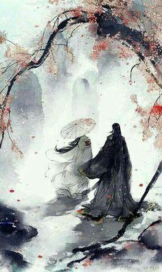 Fantasy Kunst, Fantasy Art, Japon Illustration, Tree Illustration, Botanical Illustration, Art Asiatique, Japanese Artwork, Art Japonais, Samurai Art