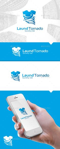 Laundry Tornado Logo — Vector EPS #mobile #tornado • Download here → https://graphicriver.net/item/laundry-tornado-logo/13577624?ref=pxcr