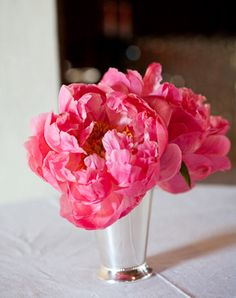 Peonies and carnations, delicate wedding flowers