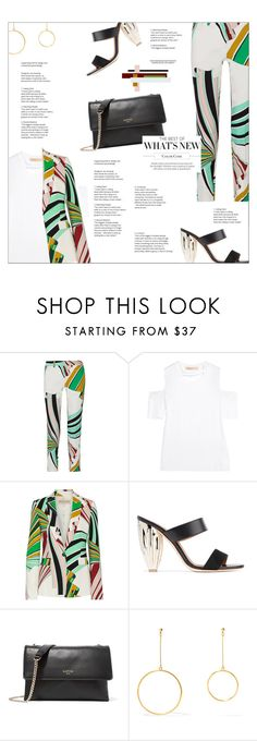 """EMILIO PUCCI Printed stretch-twill blazer and skinny pants"" by mako87 ❤ liked on Polyvore featuring Emilio Pucci, Maggie Marilyn, Malone Souliers, Lanvin, Kenneth Jay Lane and emiliopucci"
