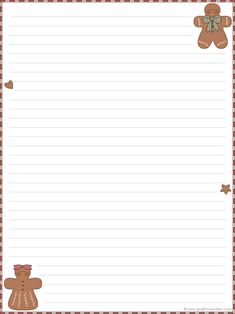 Gingerbread stationary