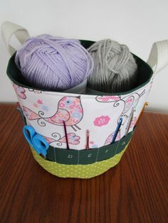 Fabric Storage Basket With Pockets PDF Pattern By KathieSewHappy