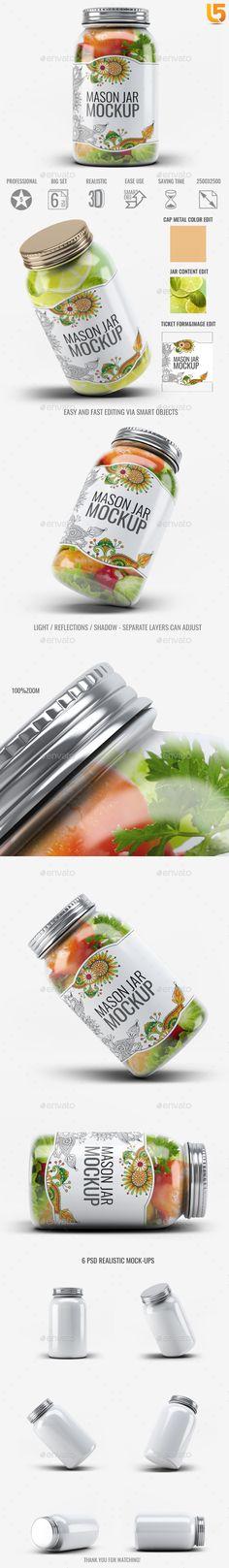 Mason Jar MockUp V.1 — Photoshop PSD #food #drink • Available here → https://graphicriver.net/item/mason-jar-mockup-v1/19529756?ref=pxcr