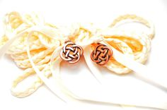 Ivory Celtic Knot Wedding Hand Fasting/ Binding Cord ~ Handfasting ~ Celtic Promise ~ Choose your charm by DivinityBraid on Etsy