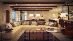 Rustic Contemporary Living Room | The appealing pic is part of Modern Rustic Living Room which is ...