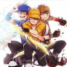 Boboiboy Anime, Anime Art, Cartoon Movies, Cartoon Characters, My Childhood Friend, Elemental Powers, Boboiboy Galaxy, Picts, Kittens Cutest