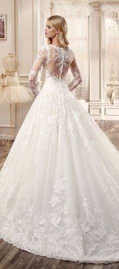Long sleeves wedding dress 2016 collection