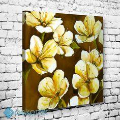 White Flowers Tablo #çiçekli_kanvas_tablo