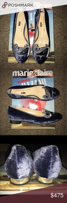 Charlotte Olympia Elvis Sz 38.5 Lightly Worn Charlotte Olympia Elvis Sz 38.5 Lightly Worn Charlotte Olympia Shoes Flats & Loafers