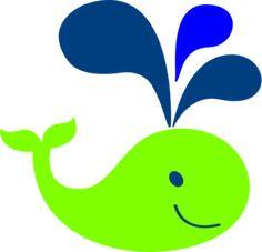Green Whale Clip Art