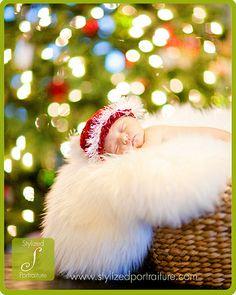 newborn Christmas photo