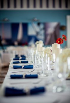 Marine Wedding table decorations. www.maniaevent.pl