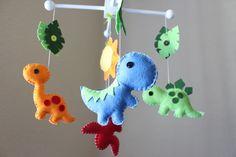 Baby Crib Mobile - Baby Mobile - Dinosaur Mobile - Nursery Crib Mobile - Dino Land / Dinosaurs Design. $80.00, via Etsy.