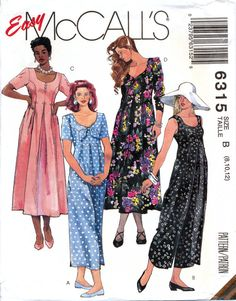McCall's 6315 Misses' Jumpsuit and Dress Sewing by retrowithlana