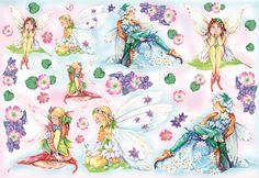 Decoupage - Rice paper Decoupage - Dec. Riso 48x33 Fate e fiori