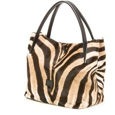 Stuart Weitzman Ironymaxi found on Polyvore featuring polyvore, women's fashion, bags, handbags, genuine leather purse, genuine leather satchel handbags, brown leather satchel, brown leather handbags and zebra print purse