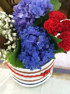 Flower blue and red Nauthic theme  Party 18 years