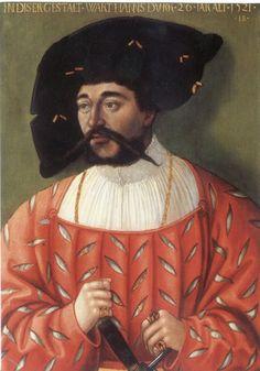 Hans Brosamer – Portrait of a Man, 1521. Interessant, das man die kette durch das wams sieht. Heißt es war innen nocht mehr umnäht und somit auch sehr luftig