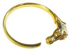 Hermes Gold Horse Bangle