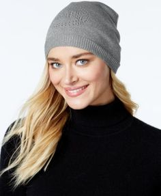 776c262ee21 MICHAEL Michael Kors Perforated Lurex Oversized Logo Hat Handbags    Accessories - Macy s