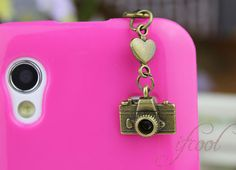 3.5mm Retro Bronze Camera  Dustproof Plug For iphone by ifcool, $1.00
