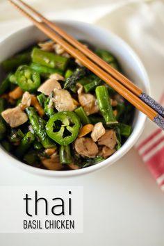 Thai Basil Chicken Recipe | Easy Thai Recipes / esther and jacob
