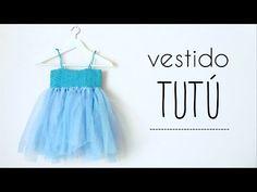vestido TUTU (todas las tallas) con canesú de ABANICOS a crochet - YouTube