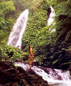 Itbog twin waterfalls in the neighborhood of Mount Isarog.