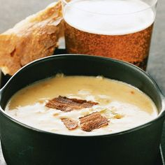 CHEDDAR BEER SOUP ... Extra-sharp Cheddar and malty English ale balance perfectly in this hearty soup.