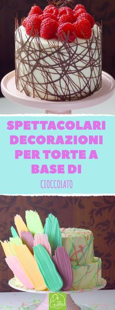 Cut out tips from the baking paper. You will leave the hosts . Lascerai gli ospiti a bocca aperta. Spectacular decorations for chocolate-based cakes. Cookie Cake Decorations, Christmas Cake Decorations, Wedding Cake Decorations, Fun Cupcakes, Birthday Cupcakes, Cupcake Cakes, Cupcake Decorating Tips, Torte Cake, Glass Cakes