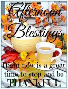 Afternoon Blessings.... Stop And Be Thankful good  friends
