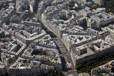 Image result for paris aerial view airplane