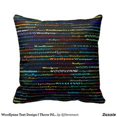 Woodlynne Text Design I Throw Pillow