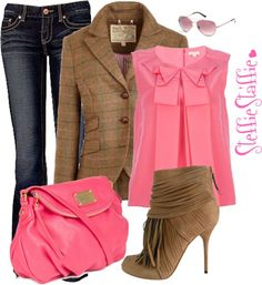 """Preppy Pink"" by steffiestaffie ❤ liked on Polyvore"