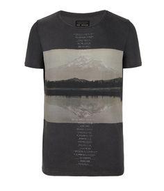 Hills Cut Collar T-shirt, Men, Graphic T-Shirts, AllSaints Spitalfields
