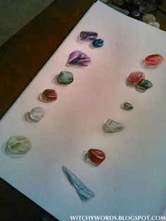 Book of Shadows stones crystals page #Wicca