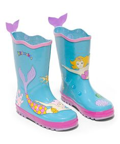 Another great find on #zulily! Aqua Mermaid Rain Boot by Kidorable #zulilyfinds  Might need to get these for Teagan