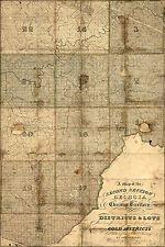 16x24 Poster; Map Of Cherokee Indian Territory In Georgia 1830