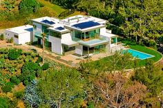 """Lookout Residence, Beverly Hills by Bertram Architects http://bertramarchitects.com/ LA...four bedroom, four and a half bath contemporary home is described by ben Bacal as """"a jewel box in an A+ location in the City of Beverly Hills."""".....Set atop a promontory with total privacy and unobstructed views from downtown to the ocean, this exclusive property is currently on sale, offered at $ 9.75 million"""