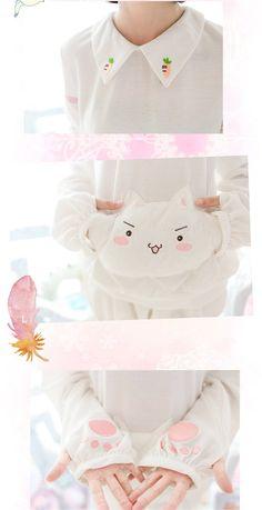 Sweet Kitty Embroidery Lolita Hoody
