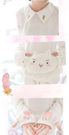 Sweet Kitty Embroidery Lolita Hoody