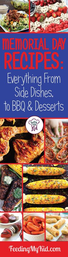 Memorial Day Recipes. Get some awesome grill out recipes from desserts, BBQ to sides. Happy Memorial Day weekend! Recipes for all.