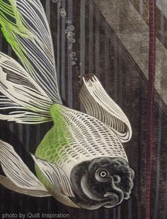 close up, Aquarium by Yoshiko Miyamoto (Japan).  Photo by Quilt Inspiration