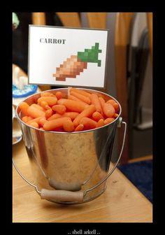 Zanahorias para fiesta Minecraft