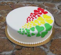 Reggae inspired wedding cake
