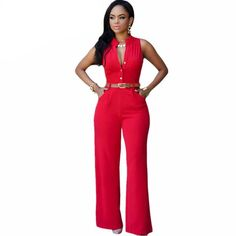 Perfectly fitting red jumpsuit now available at My Pink Avenue. Do we love this? Just so classy.
