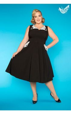 Pinup Girl Clothing - Brigit Dress in Black   Pinup Girl Clothing