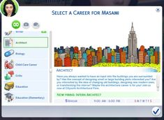 Architect Career by MarieLynette at Mod The Sims • Sims 4 Updates