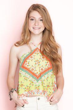 Blusa estampada lenço floral | Dress to