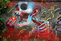 Artist: Aryz  Location: Barcelona, Spain  //  50 Jaw-Dropping Examples Of Street Art From Around The World